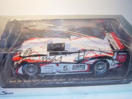 Audi R8, 24h Le Mans 2004, 1. Platz, Ara/Capello/Kristensen, Nr. 5, Spark, 1:18, mb