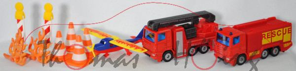 00000 Geschenkset Feuerwehr: 2x Scania + Sportflugzeug + Zubehör, SIKU, P32mpR