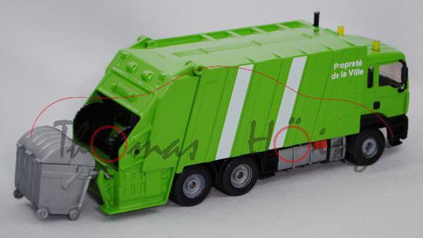 00101 MAN TGA 18.460 M (Modell 2000-2007) Müllwagen, gelbgrün/mattschwarz, Propreté / de la Ville, N
