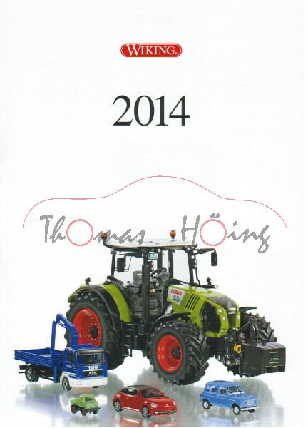 Wiking Katalog 2014 DIN A4, 28 Seiten, Wiking