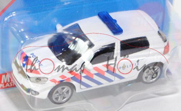 00300 VW Golf VI 2.0 TDI Polizei, Modell 2008-2012, reinweiß, innen schwarz, POLITIE, leuchthellrote