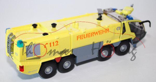 00401 FLF Rosenbauer PANTHER 8x8 MA-5 (Mod. 05-15) Flugfeldlöschfahrzeug, gelb, SIKU, L17mP Limited