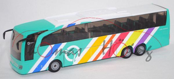 00101 F Mercedes-Benz Travego (Typ O 580, Mod. 05-16) Reisebus, weiß/türkisblau, RATP, SIKU, L17mpK
