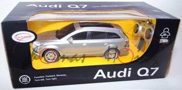Audi Q7, Mj 05, silber, mit Fernsteuerung, RASTAR, 1:24, mb
