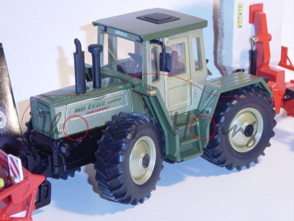 MB Trac 1800 intercooler (Modell 1989-1991) mit Mähkombination und DVD, distelgrün-metallic/olivgrün