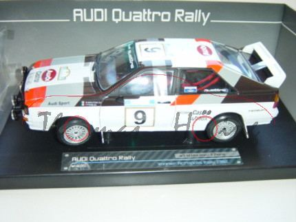 Audi Quattro, weiß, Acropolis Rallye 1982, Nr. 9, Mouton / Pons, Sun Star, 1:18, mb