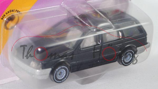 00004 VW Passat Variant (B3, Typ 35i, Modell 1988-1993), schwarzgraumetallic, innen lichtgrau, Lenkr
